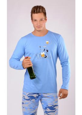 Pánské pyžamo dlouhé Pes s pivem