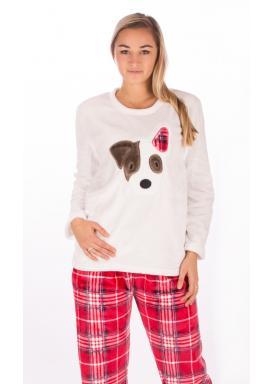 Dámské pyžamo dlouhé Pes Flíček