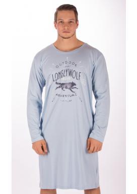 Pánská noční košile s dlouhým rukávem Vlk
