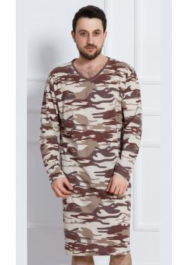 Pánská noční košile s dlouhým rukávem Army