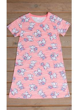 Dětská noční košile s krátkým rukávem Slon s dárkem