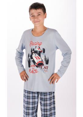 Dětské pyžamo dlouhé Závodní auto