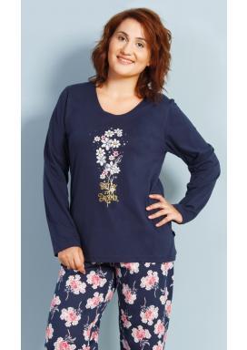 Dámské pyžamo dlouhé Květa