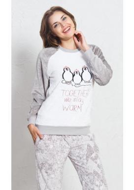 Dámské pyžamo dlouhé Tři tučňáci