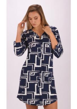 Dámské domácí šaty s tříčtvrtečním rukávem Kateřina