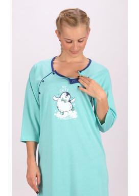 Dámská noční košile mateřská Tučňák