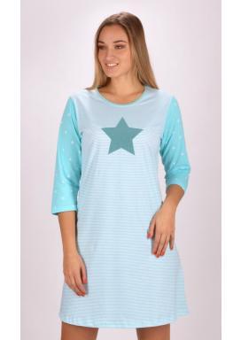 Dámská noční košile s tříčtvrtečním rukávem Hvězdička