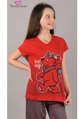 Dětské pyžamo kapri Medvěd v košíku