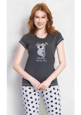 Dámské pyžamo kapri Koala s mašlí