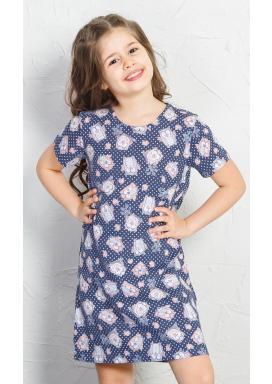 Dětská noční košile s krátkým rukávem Malé sovy