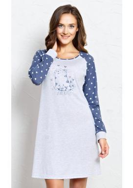 Dámská noční košile s dlouhým rukávem Kitty