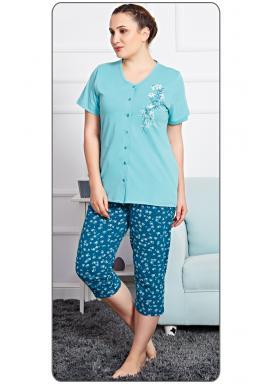 Dámské pyžamo kapri Flowers