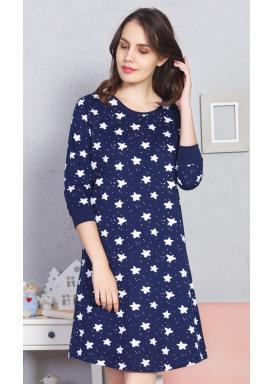 Dámská noční košile s tříčtvrtečním rukávem Stars
