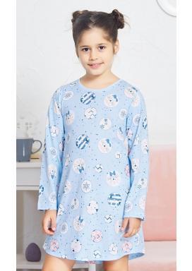 Dětská noční košile s dlouhým rukávem Kitty