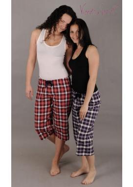 Dámské pyžamové kapri kalhoty Lucie