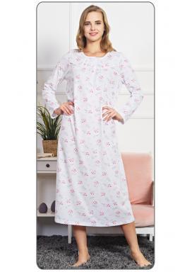 Dámská noční košile s dlouhým rukávem Betty