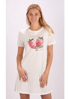 Dámská noční košile s krátkým rukávem Jahoda