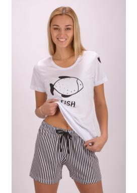Dámské pyžamo šortky Fish
