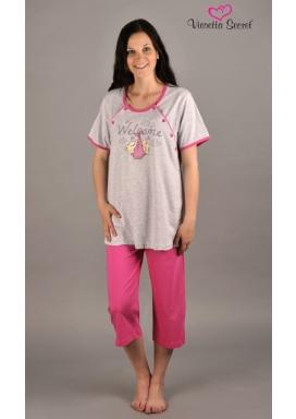 Dámské pyžamo kapri mateřské Welcome