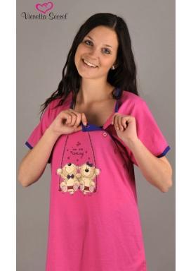 Dámské pyžamo kapri mateřské Méďové na houpačce