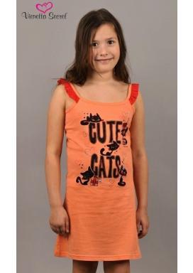 Dětská noční košile na ramínka Kočky