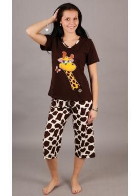 Dámské pyžamo kapri Žirafa Amélie