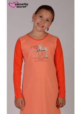 Dětská noční košile s dlouhým rukávem Medvěd v tašce