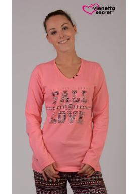 Dámské pyžamo dlouhé Fall in love