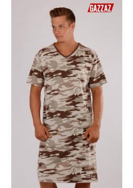 Pánská noční košile s krátkým rukávem Army