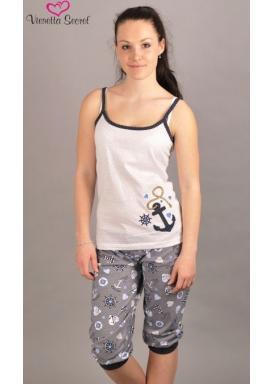 Dámské pyžamo kapri na ramínka Kotva