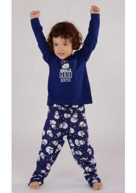 Dětské pyžamo dlouhé Sněhulák