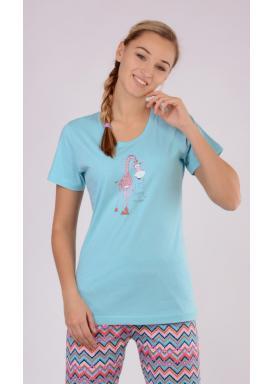 Dámské pyžamo s krátkým rukávem Žirafa Linda