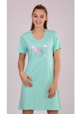 Dámská noční košile s krátkým rukávem Balónky