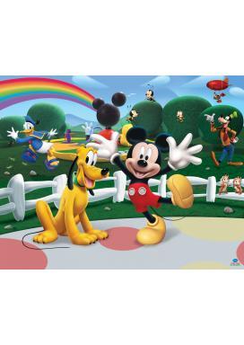 Walltastic 3D Tapeta Disney Mickeyho klubík (2438 mm x 3048 mm)