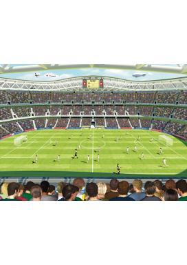 Walltastic 3D Tapeta Bláznivý fotbal (2438 mm x 3048 mm)