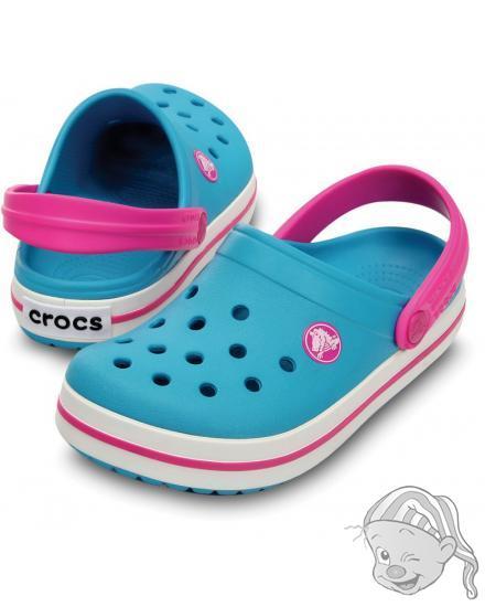 CROCS Crocband Kids - barva Surf/Neon Magenta