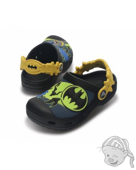CROCS Kids Batman Custom Clog - barva Black/Sea Blue