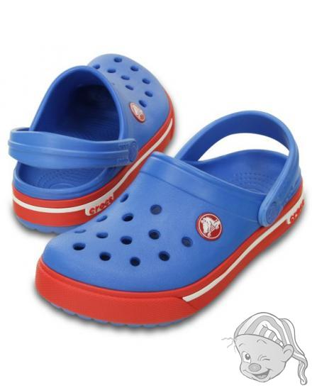 CROCS Crocband II.5 Clog Kids - barva Varsity Blue/Red