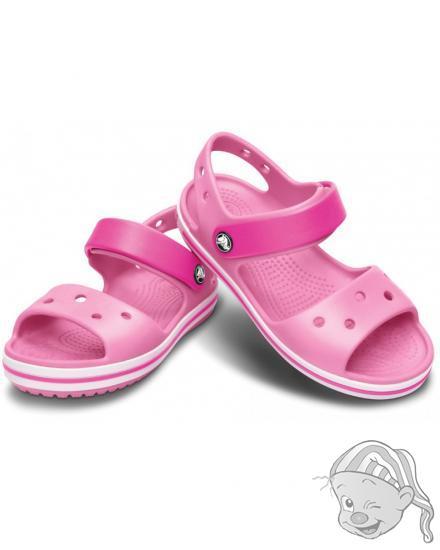 CROCS Crocband Sandal Kids - barva Pink Lemonade/Neon Magenta