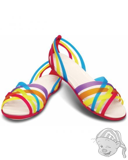 Huarache Flat Women - barva Multi/Geranium