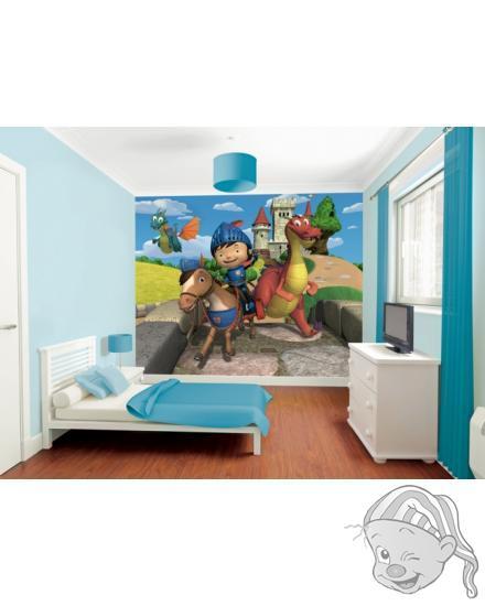 Walltastic 3D Tapeta Mike the Knight (2438 mm x 3048 mm)