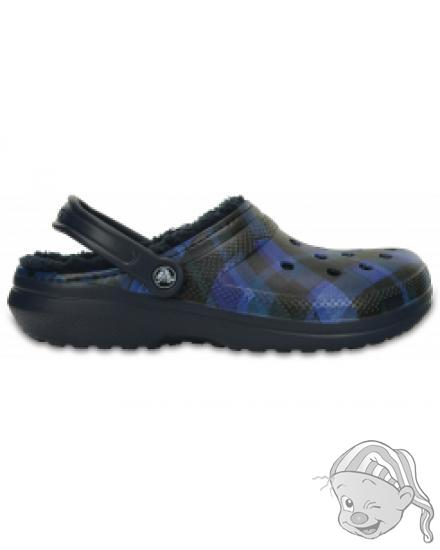Classic Lined Graphic Clog Navy/Cerulean Blue