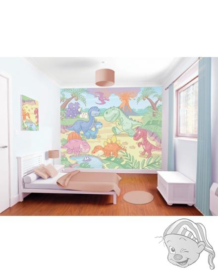 Walltastic 3D Tapeta Baby Dino  (2438 mm x 3048 mm)