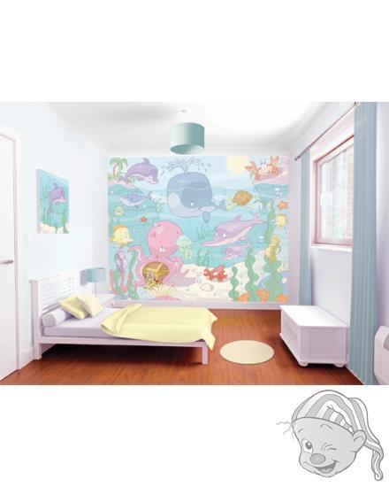 Walltastic 3D Tapeta Baby Moře (2438 mm x 3048 mm)