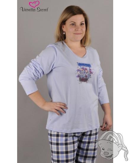 Dámské pyžamo dlouhé Košík