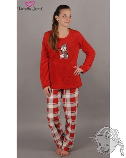 Dámské pyžamo dlouhé Sněhulák s čepicí d689622114
