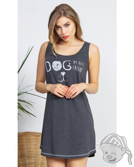 Dámská noční košile na ramínka Dog