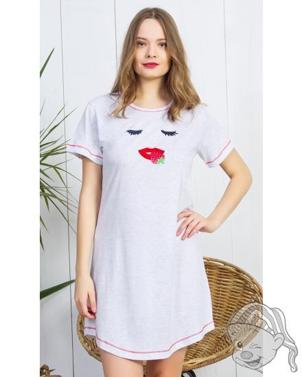 Dámská noční košile s krátkým rukávem Pusinka