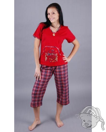 Dámské pyžamo kapri Méďa na kapse