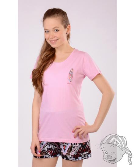 Dámské pyžamo šortky Peří